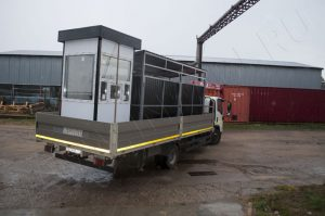 Трансопортировка поста охраны и контейнерной площадки на объект