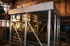 Павильон для курения КМ-12 остекляется триплексом по трем сторонам