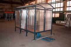 Павильон обшивается сотовым поликарбонатом (в данном изделии - поликарбонат прозрачный)
