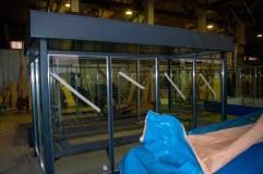 Задняя стенка павильона для курения КМ-5С