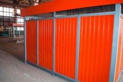 Закрытая контейнерная площадка (вид задней стенки)
