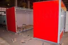 Павильон для удобства транспортировки изготавливается из модулей, которые стыкуются на месте установки