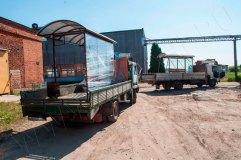 Остановочные павильоны готовятся к транспортировке