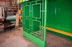 Декоративная решетка с фасадной стороны