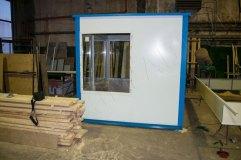 Внешняя отделка строения гладким листом с полимерным покрытием