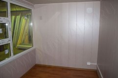 Отделка стандартная - потолок пластик ПВХ, стены панели МДФ