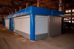 Сооружение состоит из 2-х модульных павильонов 6 на 4,6 м, а также бокса установленного между ними