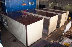 Разъединенный модульный торговый павильон общими размерами 6 на 9 метров