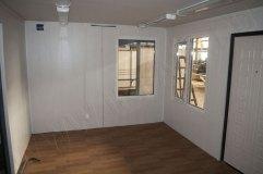 Внутренняя отделка павильона. Стены - панели МДФ, на потолке панели ПВХ
