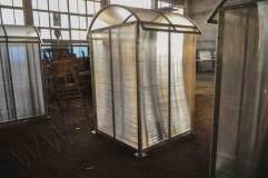 Задняя стенка павильона для терминалов