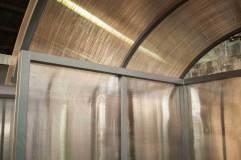 Крыша навеса для терминала полукруглая арочного типа