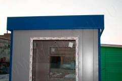 Декоративный козырек устанавливается на крышу поста охраны