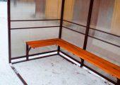 Скамья — деревянный настил пропитанный морилкой и лаком