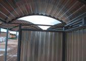 Крыша арочного типа с отделкой профилированным листом