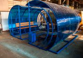 Внешний вид остановочного павильона ОМ-11