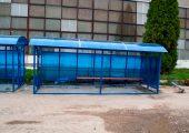 Передняя часть остановочного павильона ОМ-12