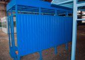 Задняя стенка павильона для остановки общественного транспорта ОМ-16