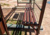 Скамья — деревянный настил покрытый эмалью в цвет павильона
