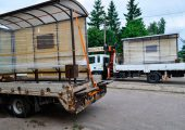 Готовые к транспортировке остановочные павильоны ОМ-15