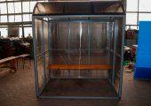 Внешний вид павильона для курения КМ-1 маленьких размеров