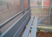 Скамья и спинка — деревянный настил с покраской эмалью