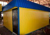 Данный павильон представлен в желто-синем цвете