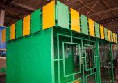 Декоративный козырек монтируется по трем сторонам павильона и выполнен из металлических пластин