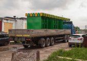 Транспортировка остановочного павильона ОМ-7