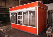 Внешний вид торгового киоска модели «Оранж» длиной 4 м