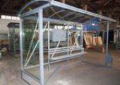 Миниатюра остановочного павильона ОМ-15 (шириной 2 м)